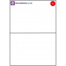 A4 Sheet Labels - 2 Labels per page