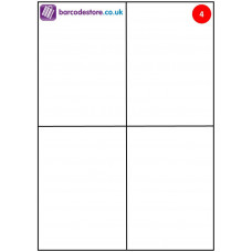 A4 Sheet Labels - 4 Labels per page