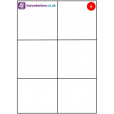 A4 Sheet Labels - 6 Labels per page