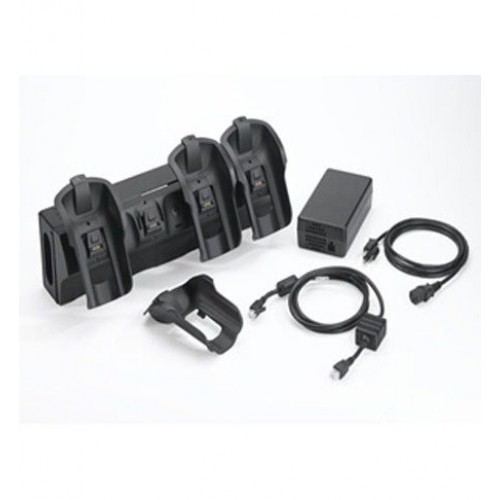 CRD9501-421EES - Zebra Wall Mount Ready MC9500 4 Bay Ethernet Cradle Kit
