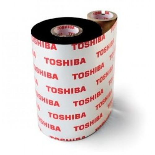 Toshiba TEC BEV10055AG3 - 55mm x 100m Wax Resin Ribbon