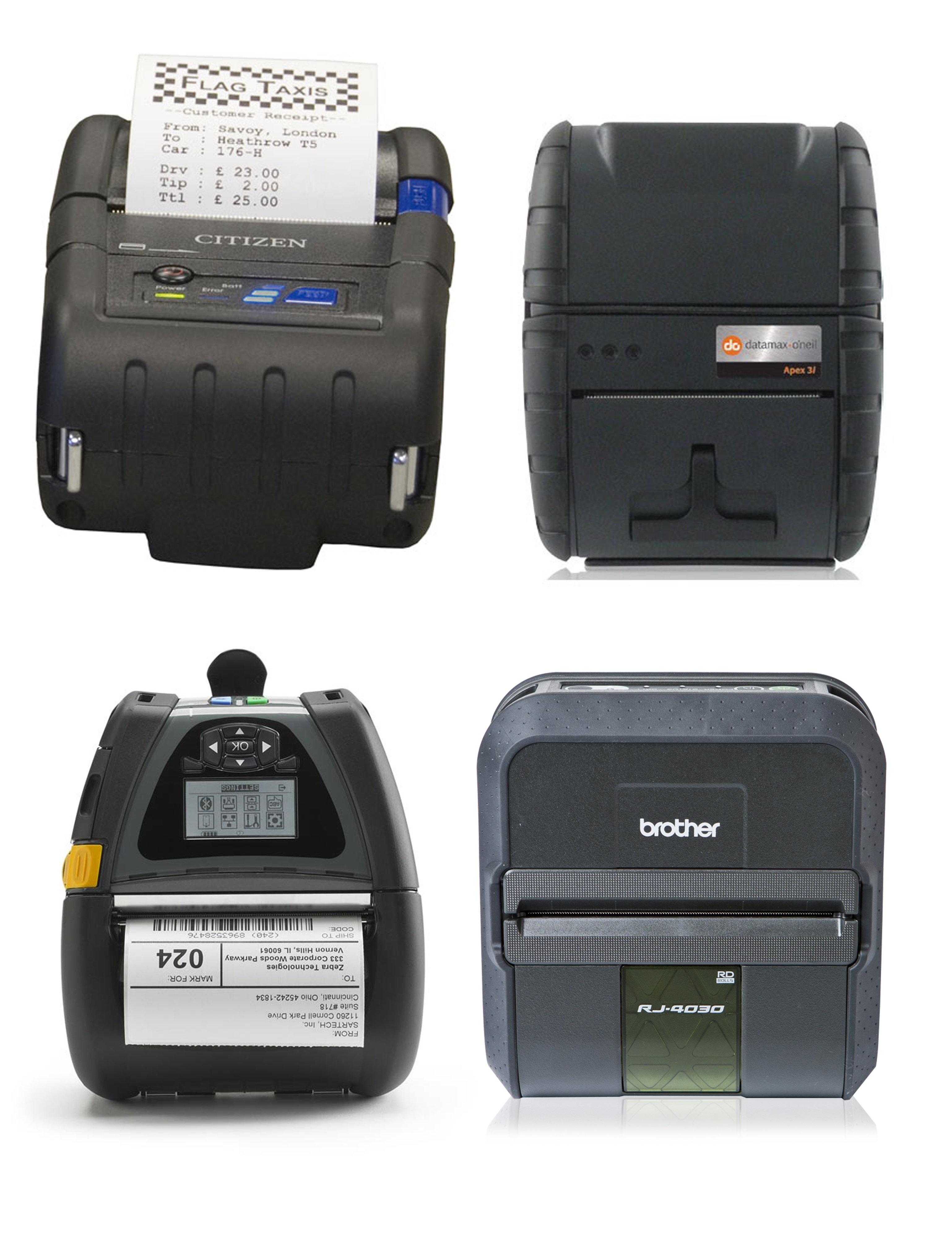 Portable Label & Receipt Printers